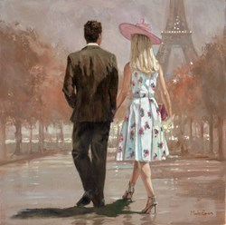 Paris Park by Mark Spain -  sized 20x20 inches. Available from Whitewall Galleries